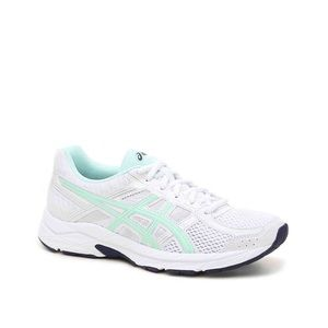 ASICS Gel-Contend 4 in white and mint - LIKE NEW!